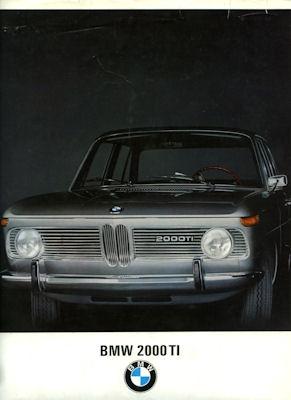 BMW 2000 TI Prospekt 7.1967