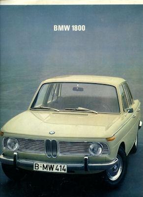 BMW 1800 Prospekt 6.1967