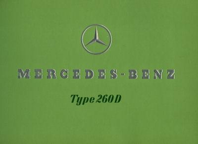 Mercedes-Benz Typ 260 D Prospekt 1938 e Reprint