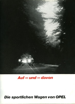 Die sportlichen Wagen von Opel Prospekt 1.1968