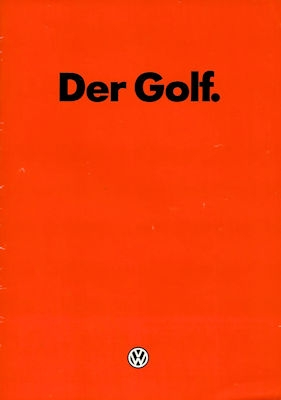 VW Golf 1 Prospekt 1.1983