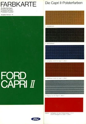 Ford Capri II Farben 2.1974