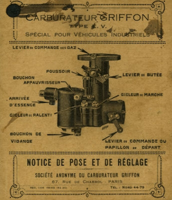 Griffon Vergaser Type EF 1930er Jahre?