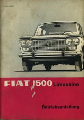 Fiat 1500 Bedienungsanleitung 1967