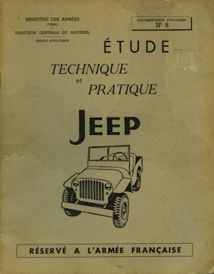 Jeep Types Willys et Ford Etude technique et pratique 1959