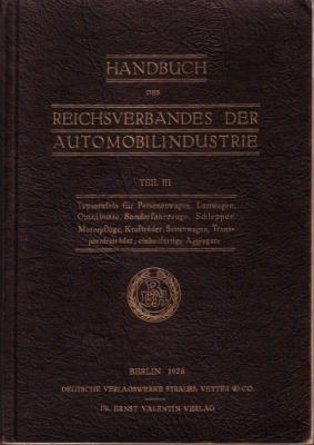 Handbuch des Reichverbandes der Automobilindustrie 1928 Teil 3