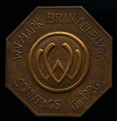 Plakette WV Mark Brandenburg 1926?