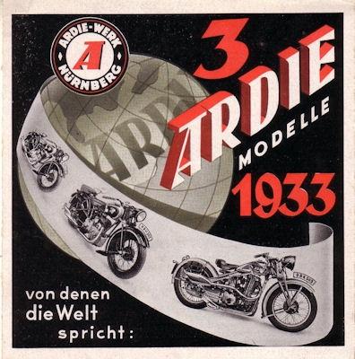 Ardie Programm 1933