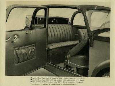 Foto Mercedes Benz 130 Innenausicht 1930er Jahre
