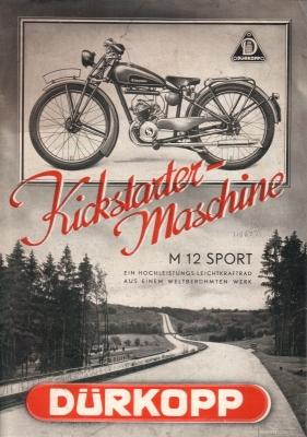 Dürkopp Motorfahrrad M 12 Sport Prospekt 1936