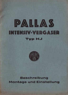 Pallas Vergaser Typ HJ 8.1934