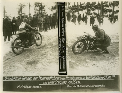Foto Motorradsport in Berlin 1920er Jahre