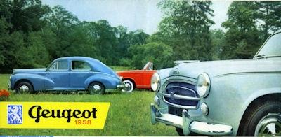 Peugeot Pkw und Klein-Lkw Programm 1958