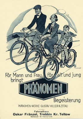 Phänomen Fahrrad Prospekt 5.1936