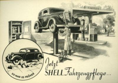 Ansichtskarte Shell 1930er Jahre