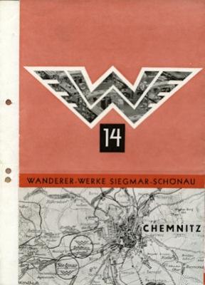 Wanderer Werke Siegmar-Schönau Prospekt 1930/40er Jahre