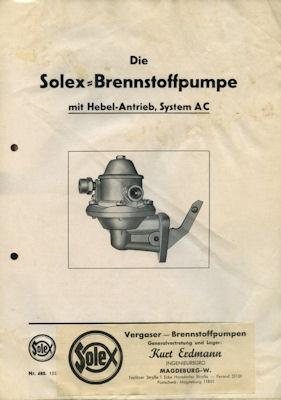 Solex Brennstoffpumpe System AC ca.1940