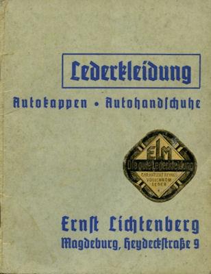 Ernst Lichtenberg Lederbekleidung Katalog 1936