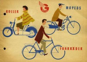 Göricke Fahrrad und Moped Programm 1960er Jahre