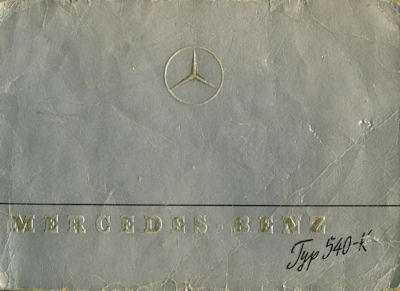Mercedes-Benz Typ 540 K Prospekt 1939