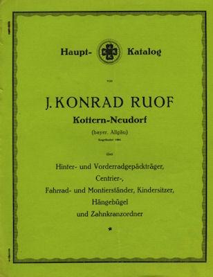 J. Konrad Ruof / Allgäu Fahrrad-Gepäckträger Katalog ca. 1930