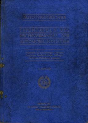 Autotypenbücher 1931 Typentafeln des Reichverbandes der Automobilindustrie