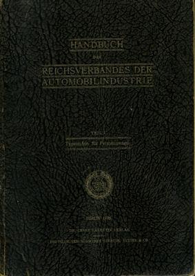 Handbuch des Reichverbandes der Automobilindustrie 1928 Teil 1