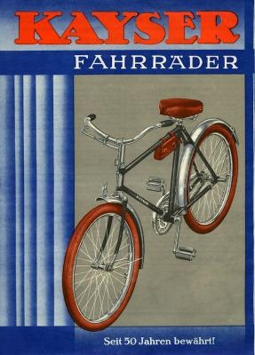 Kayser Fahrrad Prospekt 1930er Jahre