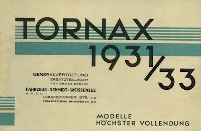 Tornax Programm 1931/1933 Reprint