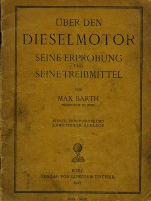 Max Barth Dieselmotor 1915