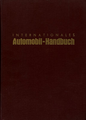 J. Kramer Int. Automobil-Handbuch 1954