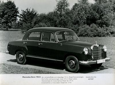 Foto Mercedes Benz 190 D 1950er Jahre