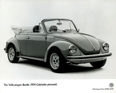 Foto VW Käfer Cabriolet 1974