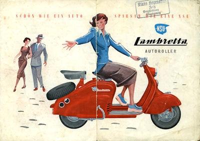 NSU Lambretta Prospekt 3.1950
