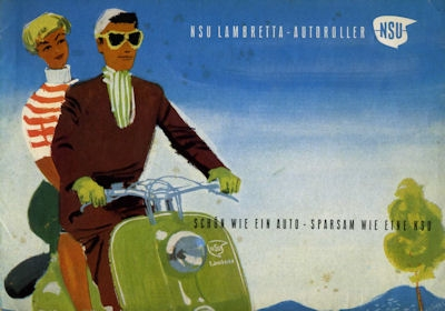 NSU Lambretta Roller Prospekt 3.1952