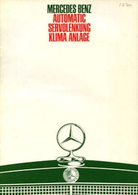 Mercedes-Benz Sonderausstattung Prospekt 1970