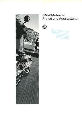 BMW Preisliste und Ausstattung 1995