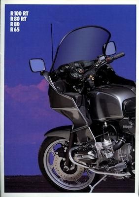 BMW R 100 RT, R 80 RT, R 80 und R 65 Prospekt 1990