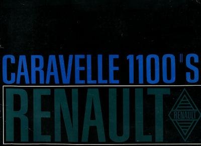 Renault Caravelle 1100 S Prospekt 1960er Jahre