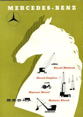 Mercedes-Benz Diesel Motoren M 202-204B Prospekt 1955