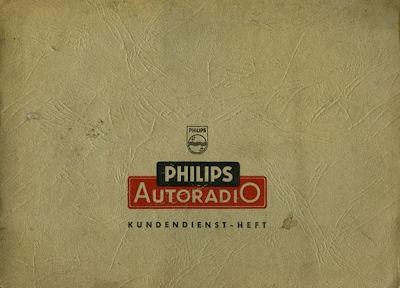 Autoradio Philips Paladin 551 Bedienungsanleitung 1956