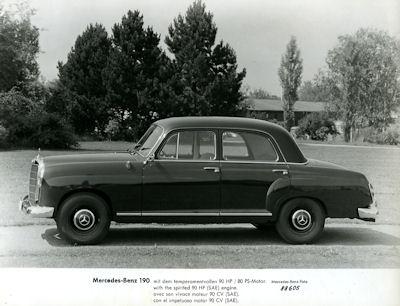 Foto Mercedes Benz 190 1950er Jahre