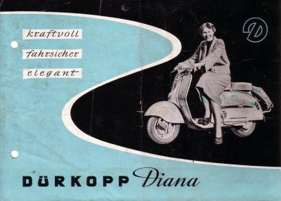 Dürkopp Diana 200 ccm Prospekt 3.1954