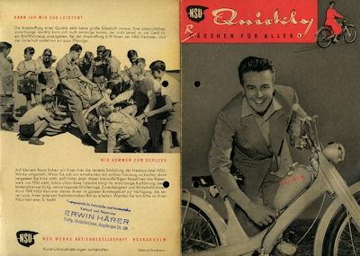 NSU Quickly Prospekt ca. 1953