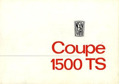 NSU-Fiat Coupé 1500 TS Prospekt ca. 1964