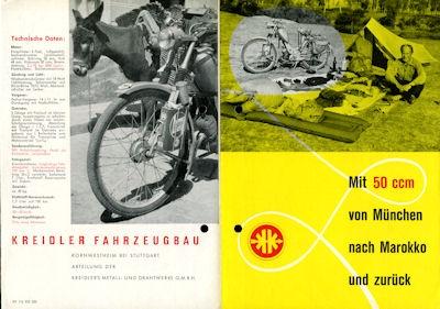Kreidler Reise Prospekt 1953