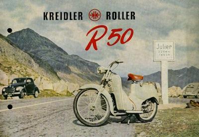 Kreidler Roller R 50 Prospekt 12.1953