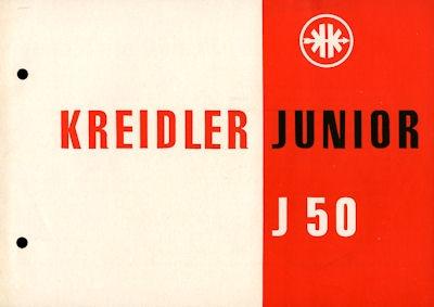 Kreidler Junior J 50 Prospekt 12.1953