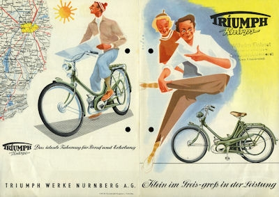 Triumph Knirps Prospekt 1.1954