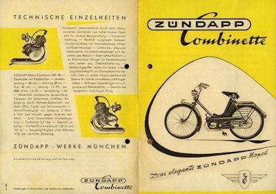 Zündapp Combinette Prospekt ca. 1950